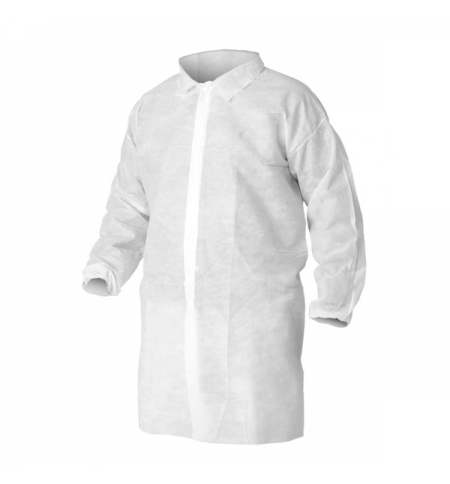 фото: Халат для посетителя Kimberly-Clark Kleenguard A10 40102, белый, M