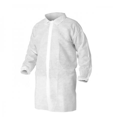 фото: Халат для посетителя Kimberly-Clark Kleenguard A10 40104, белый, XL
