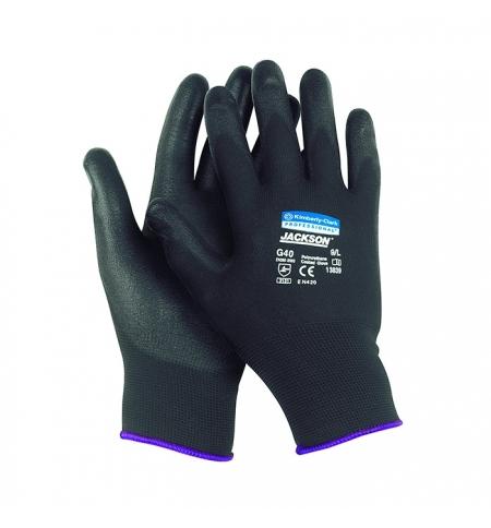 фото: Перчатки защитные Kimberly-Clark Jackson Safety G40 13839, общего назначения, L, черные, 12 пар