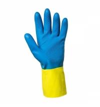 Перчатки защитные Kimberly-Clark Jackson Safety G80 38742, защита от химикатов, M, желт/син