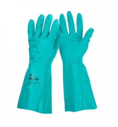 фото: Перчатки защитные Kimberly-Clark Jackson Safety G80 94447, защита от химикатов, L, зеленые, 12 пар