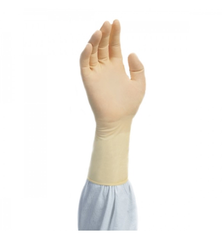 фото: Перчатки латексные медицинские Kimberly-Clark Kimtech Pure G3 HC335, M, бежевые, 100 шт