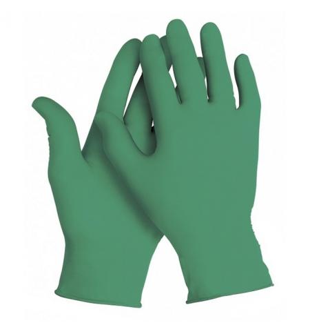 фото: Перчатки нитриловые медицинские Kimberly-Clark зеленые Kimtech Science Green Nitrile, 99851, S, 125 пар
