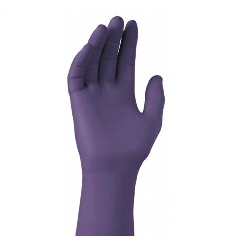 фото: Нитриловые перчатки Kimberly-Clark фиолетовые Kimtech Science Purple Nitrile, размер XL, 45 пар, лаборат