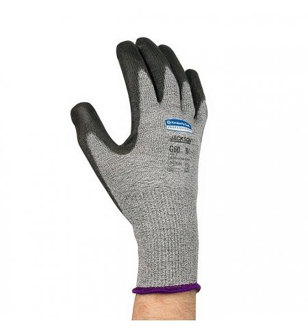 фото: Перчатки от порезов Kimberly-Clark Jackson Safety G60 98236, 5 категория, серый с черным, р.8
