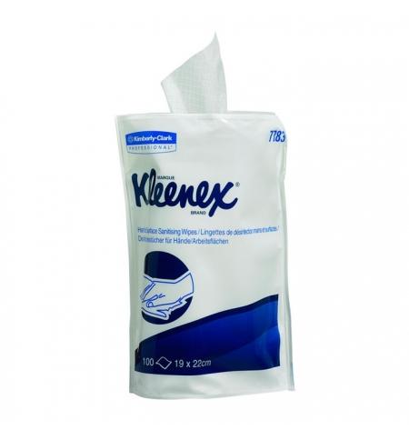 фото: Дезинфицирующие салфетки Kimberly-Clark Kleenex 7783, белые, 19 х 22см, 100 листов, сменный блок