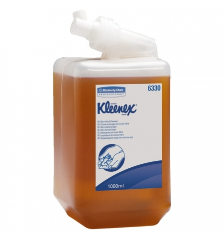 фото: Жидкое мыло в картридже Kimberly-Clark Kleenex Ultra 6330, 1л, янтарное