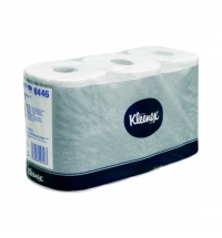 Туалетная бумага Kimberly-Clark Kleenex 8446, 6 рулонов, 2 слоя, белая, без аромата