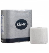 фото: Туалетная бумага Kimberly-Clark Kleenex без аромата, 4 рулона, 2 слоя, белая