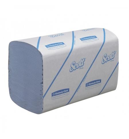фото: Бумажные полотенца Kimberly-Clark Scott Performance 6660, листовые, 180шт, 1 слой, голубые