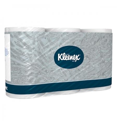 фото: Туалетная бумага Kimberly-Clark Kleenex без аромата, белая, 3 слоя, 6 рулонов, 350 листов