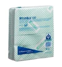Протирочные салфетки Kimberly-Clark WypAll X80, 25 листов, 1 слой, зеленые, 41.6х34.4см